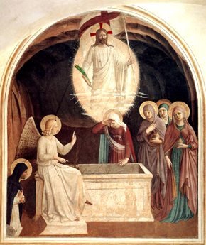Fra Angelico Easter Resurrection of Christ, Angel and Holy Women at the Tomb Hope God's Love for His Church