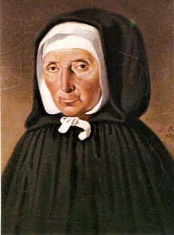 Saint Jeanne Jugan, foundress of the Little Sisters of the Poor. By her death in 1879, there were 2,400 Little Sisters spread across nine countries in Europe and North America.