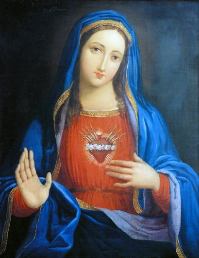Immaculate Heart of Mary pierced by Seven Swords of Sorrow
