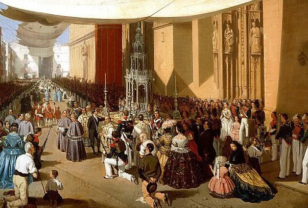 Corpus_Christi_procession_Seville_1857_by_Manuel_Cabral_y_Aguado The Church Loves All the Classes and the Harmonious Inequality Among Them
