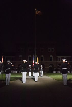 "Evening_Parade_Lowering_Colors_Marine_Barracks_Washington_DC Reflections on ""Taps"""