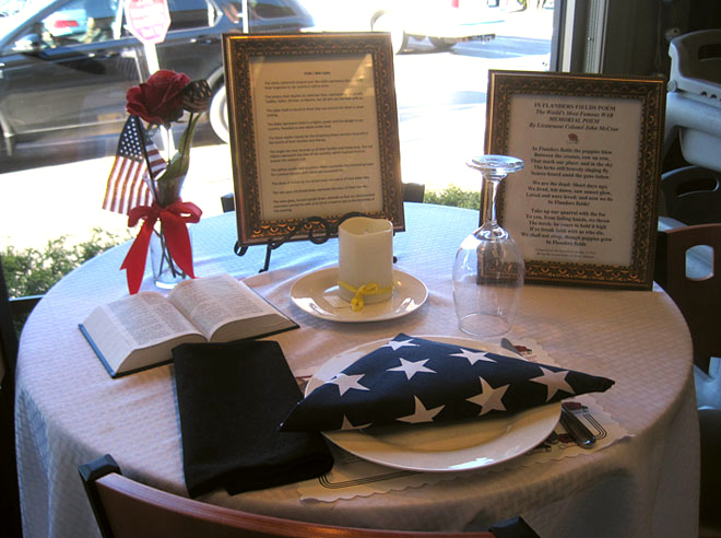 Honoring the Fallen With a Place at the Table