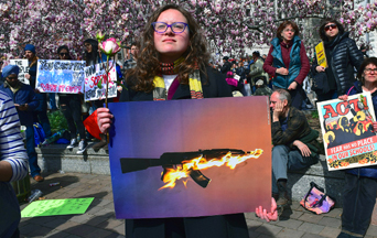 Baby Boomer Gives Gun Protesters Something to Think About