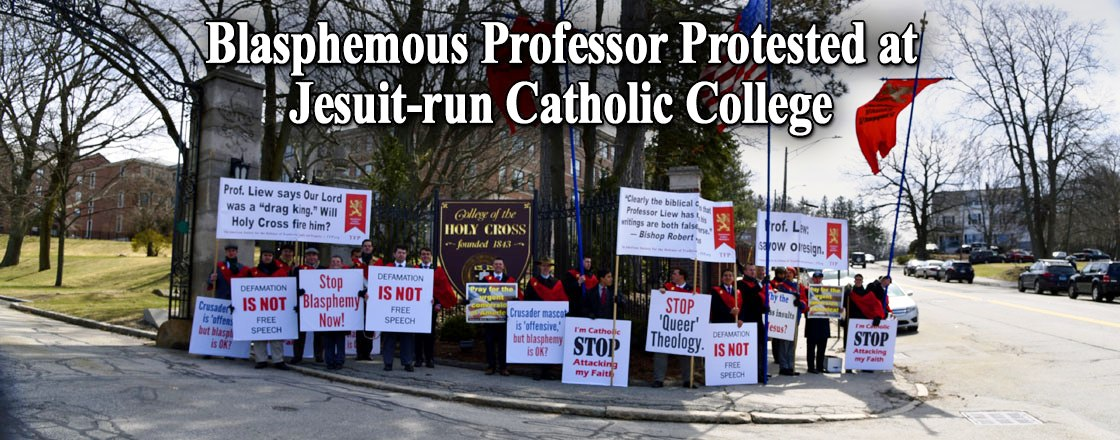 Blasphemous Professor Protested at Jesuit-run Catholic College