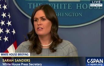 Sarah Sanders Turns the Other Cheek at The Red Hen