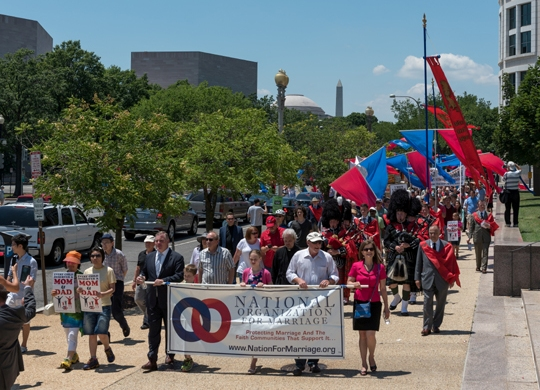March for Marriage 2016 marches down Constitution Ave heading to Supreme Court