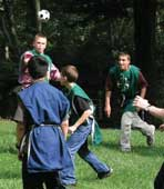The medieval tournament is always popular among camp participants.