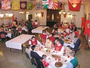 The camp finished with a medieval dinner, served in a richly decorated banquet hall.