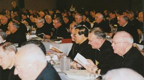 The bishops meet together to discuss child abuse and other issues