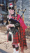 Bagpipe music played by TFP volunteer James Slobodnik greatly embellished the campaign.