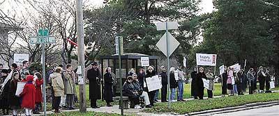 Catholics Rally at Washburn