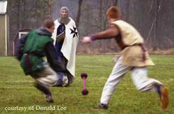 """Steal the Bacon"" is one of the favorites during the Medieval Games."