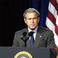 The American TFP sent a letter congratulating President George W. Bush