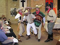 After dinner on Cristero Day there was a play depicting a Cristero martyr.