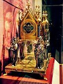 Gold-crested reliquary on exhibit in Cincinnati