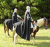 "The ""medieval games"" were officiated by two ""Knights of Malta"" on horseback."