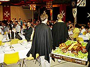 A roasted pig, deep-fried turkey and smoked brisket helped make the medieval banquet unforgetable.