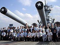 One activity the boys enjoyed this year was a visit to the battleship USS New Jersey.
