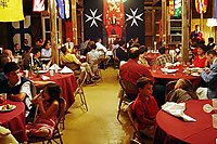 Organizers spent the day transforming the school's gymnasium into a medieval banquet hall.