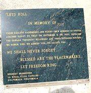 """Heroic """"Lets roll"""" memorial"""