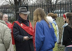 Prince Bertrand of Orleans-Braganza also handed out flyers and marched against abortion
