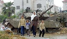 War torn families suffering from political and social degredation.