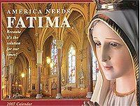 TFP Sends out 2007 Fatima Calendars