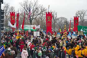 The American TFP joined a crowd of well over one hundred thousand at this year's March for Life