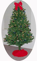 How can this pre-decorated holiday tree take the place of a real Christmas tree?