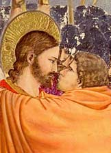"""Judas, dost thou betray the Son of Man with a kiss?"""