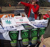 Even drug legalization activists also took an active part in the demonstration.
