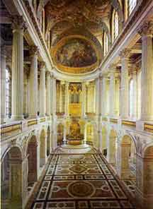 The chapel of the Palace of Versailles