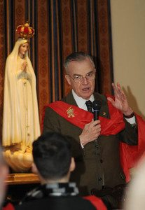 His Highness Prince Bertrand of Orleans-Braganza addressed the students on the importance of Catholic militancy.