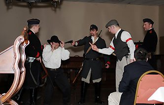 Some students were most impressed by a theatrical representation of the four Revolutions.