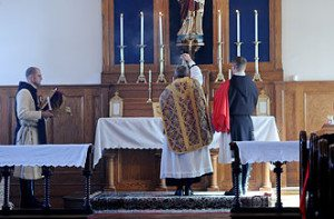 Everyone was impressed with a Sunday High Mass, in which the acolytes wore the TFP ceremonial habit.