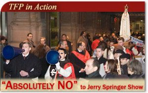 """""""Absolutely NO"""" to Jerry Springer Show"""