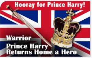 Warrior Prince Harry Returns Home a Hero