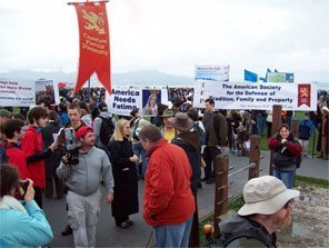 The TFP had a delegation at the Californian Walk for Life which had 30,000 participants