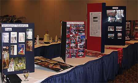 Displays with pictures of TFP activities.
