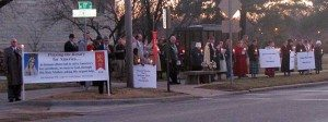 TFP Supporters and Friends Protest V-Monologues