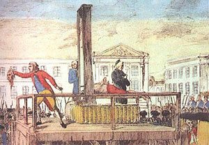 Guillotine during French Revolution