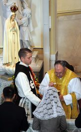Fr. Gregory Karpyn celebrated Mass at historic Immaculate Conception Church