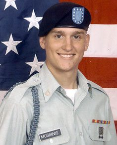 Spc. Ross A. McGinnis received the Medal of Honor for jumping on a live grenade to save his men.