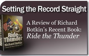 Setting the Record Straight — Book Review of Richard Botkin's: Ride the Thunder