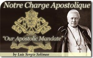 """Our Apostolic Mandate"": A Key to Restoring Christian Civilization!"