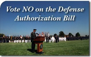 Vote NO on the Defense Authorization Bill