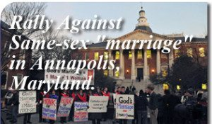 "Rally Against Same-Sex ""Marriage"" in Anapolis, Maryland"