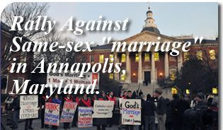 "Rally against same-sex ""marriage"" in Annapolis, Maryland."