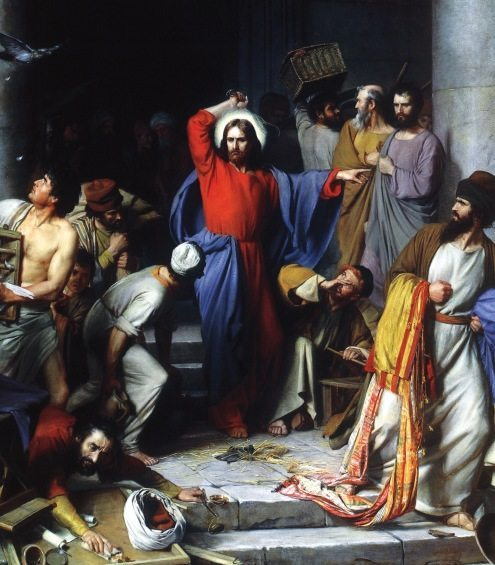 Christ Casting Out the Money-Changers, Carl Heinrich BLOCH