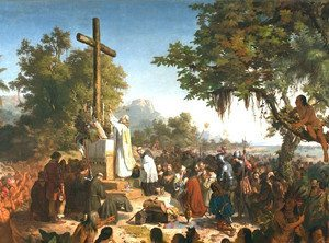 The First Mass in Brazil by Meirelles